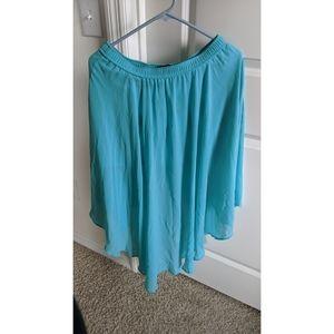 Aquamarine high-low skirt